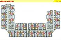 Chính chủ cần bán CHCC Golden An Khánh, tầng 10.01, DT: 69,7m2, giá bán 855 triệu. LH 096447711