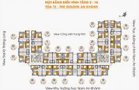 Bán chung cư Golden An Khánh, tầng 1115, căn góc, DT: 69,2m2, giá 12tr/m2. LH: 0983 640 839