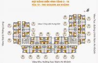 Tôi An cần bán chung cư The Golden An Khánh 18T2 căn góc 1001, DT 69,6m2 giá 13.5tr/m2. 0981129026