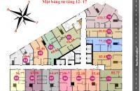 Bán căn hộ chung cư số 1 Thanh Bình, căn tầng 1008 DT: 50.16 m2 giá bán: 17tr/m2