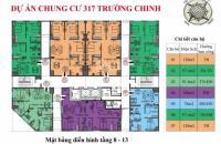 Bán căn hộ chung cư Hamilton Complex 317 Trường Chinh 97.4m2