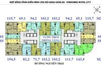 Bán căn hộ chung cư Royal City 72A Nguyễn Trãi,Thanh Xuân 103.2 m2