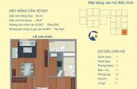 Nhượng gấp, căn chung cư 122 Vĩnh Tuy, 2PN, diện tích 64.42m2