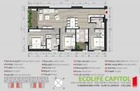 Bán gấp căn hộ chung cư Ecolife cappitol 58 Tố hữu, căn tầng 2004 DT: 111.8m2 giá bán: 27tr/m2