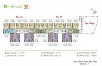 Chính chủ bán căn hộ chung cư Ecolife Capitol 58 Tố Hữu căn tầng 2012 DT: 75.9m2, giá: 27tr/m2