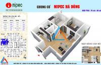 Bán căn hộ 2PN Chung cư MiPec Kiến Hưng Hà Đông,full nội thất giá chỉ 14,3tr/m2 nhận nhà Quý I 2018