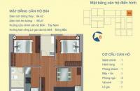 Tòa B, chung cư 122 Vĩnh Tuy, 64.42m2 căn góc view sông Hồng giá rẻ