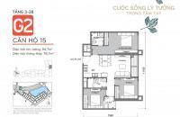 Bán căn 3 phòng ngủ, căn số 15 tòa G2, Vinhomes Green Bay, giá CĐT