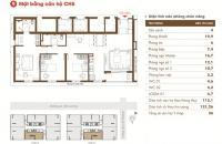 Chuyển công tác xa, bán nhanh căn hộ Time Tower, 121,1m2, 3 ngủ, ban công ĐN, 32,5tr/m2