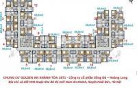 Sang tên gấp căn hộ 1008 (69m2) chính chủ, CC Golden An Khánh, giá 900 triệu/căn hộ. LH:0936071228