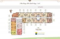 Bán căn hộ 3 phòng ngủ 105m2, giá 2,7 tỷ, full nội thất nhập khẩu