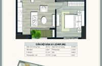 Cần bán căn hộ 08 tầng 16 chung cư Ecolife Capitol, diện tích 45.7 m2, 1PN, 1WC, giá 26 tr/m2