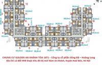 Bán CC Golden An Khánh, tầng 1610(68,8m2)-T1,Giá:850 triệu LH: 0986854978