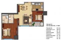 Bán căn hộ Times City, Minh Khai, Hai Bà Trưng, DT 87m2, 2 phòng ngủ, giá 3,3 tỷ, LH 0988 926 208