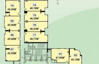 Tôi cần bán căn hộ CC CT2C Nghĩa Đô, tầng 1515, DT 46.23m2. LH 0934568193