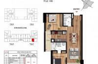 Cần bán căn 2pn tòa 35 tầng chung cư 203 Nguyễn Huy Tưởng, dt 66,1m2, giá 2,61 tỷ