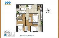 CC bán CHCC FLC Star Tower 418 Quang Trung, căn tầng 1608 DT 76.02m2 giá 19tr/m2, LH 0989540020