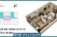 Bán cắt lỗ chung cư ICID Complex Lê Trọng Tấn, Hà Đông giá 1,24tỷ/66.88m2