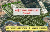 Bán đất nền Biệt thự Phú Cát City gần ĐH Quốc gia Hà Nội từ 9tr/m2, tặng quà & CK cao