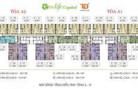 Cần tiền bán gấp căn ngoại giao EcoLife Capitol, tầng 1010B, DT: 75.9m2, 0961637026