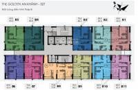 Tôi chuyển công tác nên bán gấp căn 1502 tòa 32T CC The Golden An Khánh, DT 65,6m2, giá 870tr