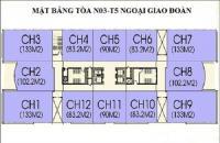 Cần bán căn hộ 10 Tòa N03T5 Ngoại Giao Đoàn, Bắc Từ Liêm, DT: 83m2, 2PN, ban công Nam, giá 26.5tr/m2