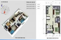 Chuyển công tác vào Miền Nam nên cần bán gấp căn hộ 2001 dự án VC2 Golden Heart, 65.3m2, ban công Tây Nam