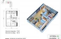 Cần bán gấp 1902 tòa CT2, chung cư Eco Green City, diện tích 75m2, giá 27tr/m2. LH 0934542259