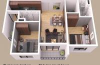 Bán căn hộ chung cư tại Dự án Gamuda City(Gamuda Gardens), Hoàng Mai, Hà Nội dt 74m2 giá 2tỉ