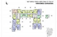 Bán gấp căn 15.07, diện tích 85.7m2/2PN dự án Gardenia Vinhomes, giá 30 tr/m2, LH: 0989.218.798
