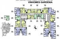 Bán gấp CH Vinhomes Gardenia, căn tầng 2001, DT: 76.6m2, giá bán: 2.6 tỷ/căn, LH: 0989540020