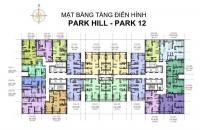 Cần bán cắt lỗ căn 1606 Park 12, 68.1m2, 2 PN, ban công ĐN, giá 2.45 tỷ, Linh 0961980322
