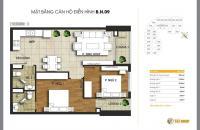 Bán căn 09 tòa B chung cư T&T Riverview diện tích 75m2, 2 phòng ngủ, giá 20.2 tr/m2