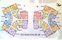 Không có nhu cầu ở bán gấp CHCC tại CT1B Yên Nghĩa, căn 1210, DT: 61,94m2, giá 12.5 tr/m2