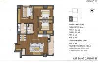 Bán gấp căn hộ Hong Kong Tower DT 127m2 căn 01 tòa A, 3PN + 2wc, giá: 37tr/m2, LH: 0962 85 9938