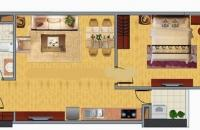 Bán căn hộ KĐT Nghĩa Đô, 41m2, chỉ 1.3 tỷ, thô nguyên bản, ban công Nam