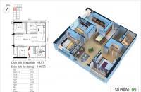 CC bán 09 tòa CT1, 94.87m2 ( thông thủy), 3 ngủ, giá 27.5 tr/m2, Eco Green City