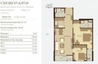Bán căn hộ chung cư tại Dự án Mandarin Garden 2, Hoàng Mai, Hà Nội diện tích 82,7m2  giá 2.55  Tỷ