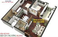Cần bán hộ 3 PN, diện tích 103m2 tòa C Golden Land, giá chỉ từ 2,9 tỷ nộp 30% nhận nhà, 0918114743
