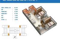 Bán gấp căn hộ chung cư Golden West số 2 Lê Văn Thiêm, diện tích 75.5m2, 29 tr/m2, bao sang tên