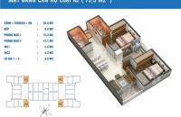Bán gấp căn hộ chung cư Golden West số 2 Lê Văn Thiêm, diện tích 75.5m2, giá 29 tr/m2, bao sang tên