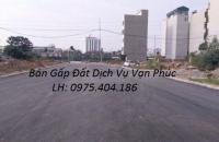 Bán 40m2 đất Dịch Vụ Vạn Phúc dãy No6A, Đông Nam cạnh chung cư cực đẹp-lh:0975.404.186