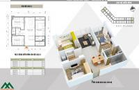 Căn hộ Xuân mai complex 80m2 3 pn thiết kế thoáng mát giá 1.4 tỷ. LH 0969343232