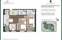Bán căn hộ chung cư tại dự án The Emerald, Nam Từ Liêm, Hà Nội, DT 86 m2, giá 2,37 tỷ