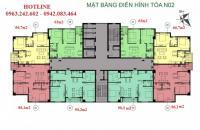 Bán căn góc đẹp 66,7m2 tầng trung tòa N02 chung cư K35 Tân Mai giá có thể thương lượng, 01672251207