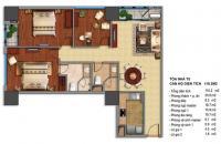 Bán cắt lỗ căn hộ Times city T0119 02 - 110.3m2- căn góc 3PN giảm ngay 200 triệu