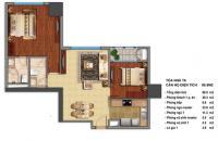 Bán căn hộ chung cư 2 phòng ngủ Times City, 458 đường Minh Khai