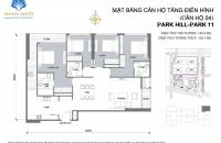 BÁN GẤP!! CĂN GÓC PARK 11 - 4 NGỦ SÁNG 6.4 TỶ, BT, BC ĐÔNG NAM - TIMES CITY PARK HILL