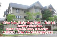 Cần bán Biệt thự N06 - BT16 Sunny Garden, KĐT Quốc Oai, Hà Nội