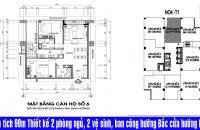 Chính chủ bán căn hộ chung cư N04B Ngoại Giao Đoàn, 2PN, 26,5tr/m2 LH: 0986329050